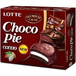 롯데 초코파이 카카오, 롯데, 초코파이 카카오, 초코파이, 카카오, chocopie, choco pie, chocopie cacao, lotte chocopie, чокопайб чокопай какао, корейские сладости, купить чокопай
