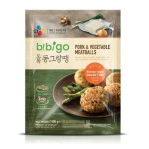 мясные шарики с свининой и овощами,мясные шарики с свининой и овощами bibigo