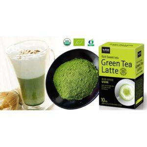 зеленый чай латте,зеленый чай нокчавон,green tea latte
