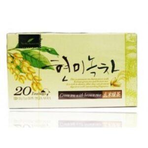 зеленый корейский чай,зеленый чай с коричневым рисом,чай с коричневым рисом
